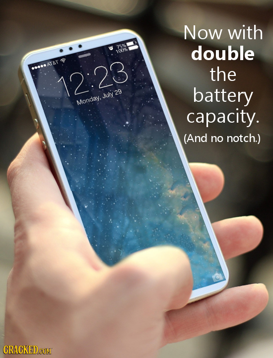 Now with 15% double 1009 AT&T the 12:23 battery Monday.July 29 capacity. (And no notch.) CRACKED CON