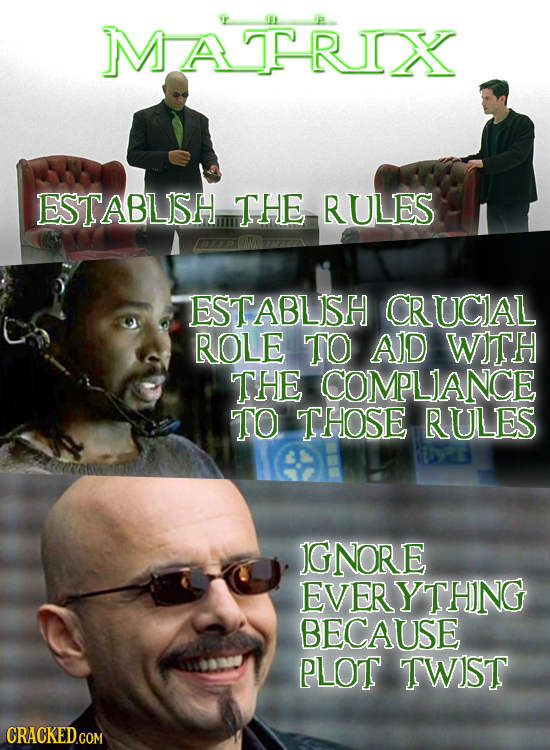 MATRIX 00 ESTABLISH THE RULES 2 ESTABLISH CRUCIAL ROLE TO AID WITH THE COMPLIANCE TO THOSE RULES IGNORE EVERYTHNG BECAUSE PLOT TWIST CRACKED.COM