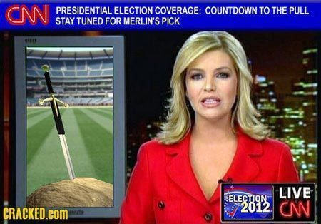 d PRESIDENTIAL ELECTION COVERAGE: COUNTDOWN TO THE PULL STAY TUNED FOR MERLIN'S PICK its LIVE ELECTIONT 2012 C CRACKED.COM