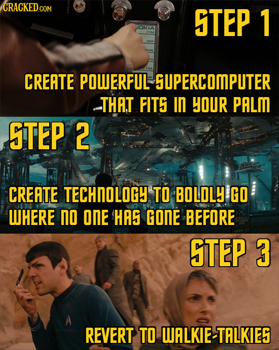 STEP 1 JOKIA COM CREATE POWERFUL SUPERCOMPUTER THAT FITS in YOUR PALM STEP 2 CREATE TECHNOLOGY TO BOLDLY GO WHERE no onE HAS GONE BEFORE STEP 3 REVERT