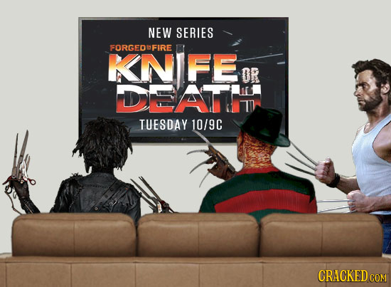 NEW SERIES FORGEDFIRE KNIFE OR DEATTT TUESDAY 10/9C CRACKEDCOR