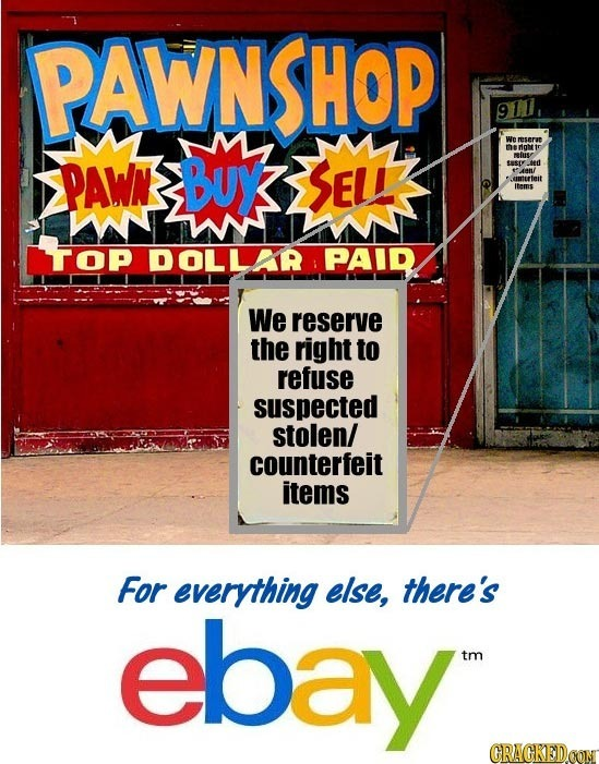 PAWN 911 We mserue PAWN BUy rioh SELE iuse sery ed An umurteit Items WWMN TOP DOLLAR PAID We reserve the right to refuse suspected stolen/ counterfeit