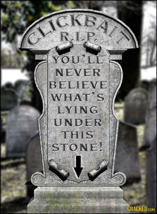 CHKEA R.I-P. YOU'LL NEVER BELIEVE WHAT'S LYING UNDER THIS STONE! CRACKEDcO