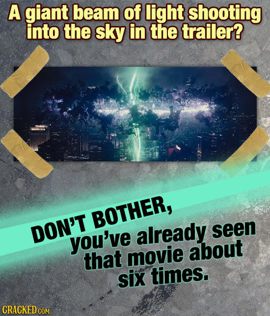 16 Warning Signs That A Movie Will Be Terrible