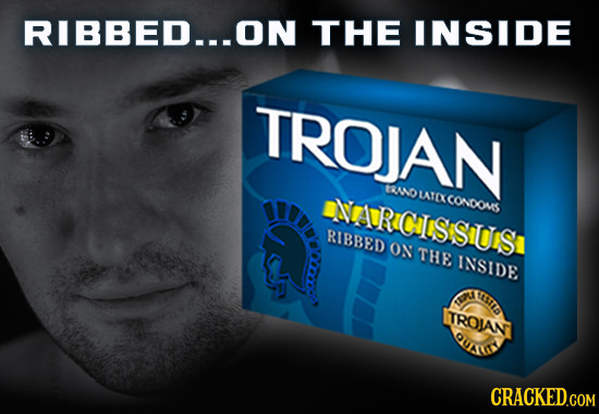 RIBBED...ON THE INSIDE TROJAN ANDLATEXCONDOUS tRICIISSIUIS RIBBED ON THE INSIDE EEL 1 TROAN OUALI