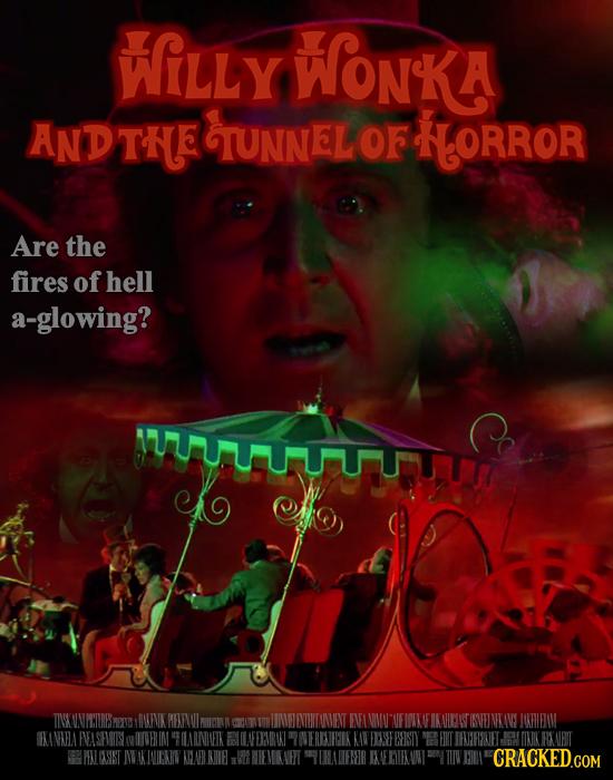 WiLLy WonKA ANDTHE TUNNELOF HLORROR Are the fires of hell a-glowing? UTUTTTHY TINSKONMWURESREAG NFNK REIVU NICNN NELEIHTOINVENT IANMN FIWIO IKAHMN TIV