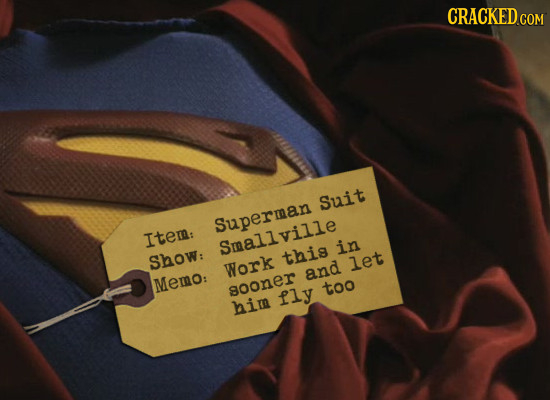 CRACKED Suit Superman Item: Smallville in Show: this Work let and Memo: sooner too fly him