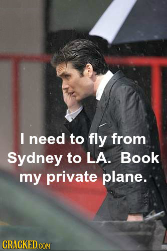 I need to fly from Sydney to LA. Book my private plane. GRACKED COM