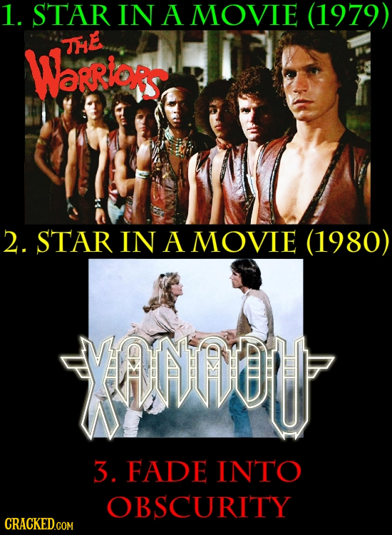 1. STAR IN A MOVIE (1979) THE Warrlors 2. STAR IN A MOVIE (1980) YOU 3. FADE INTO OBSCURITY CRACKED.COM