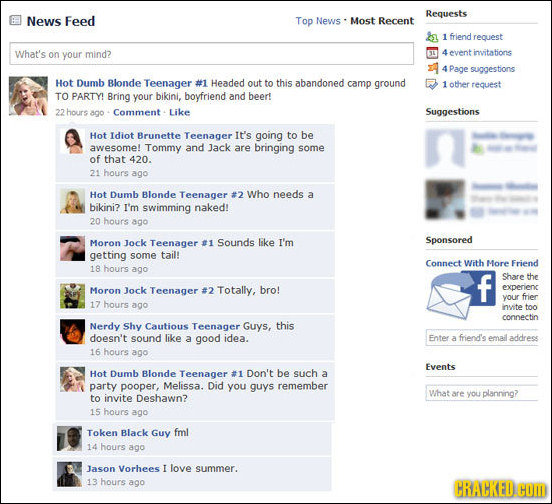 Facebook Fails of Iconic Fictional Characters