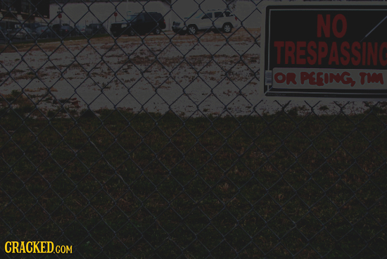 NO TRESPASSING OR PEEING, TI