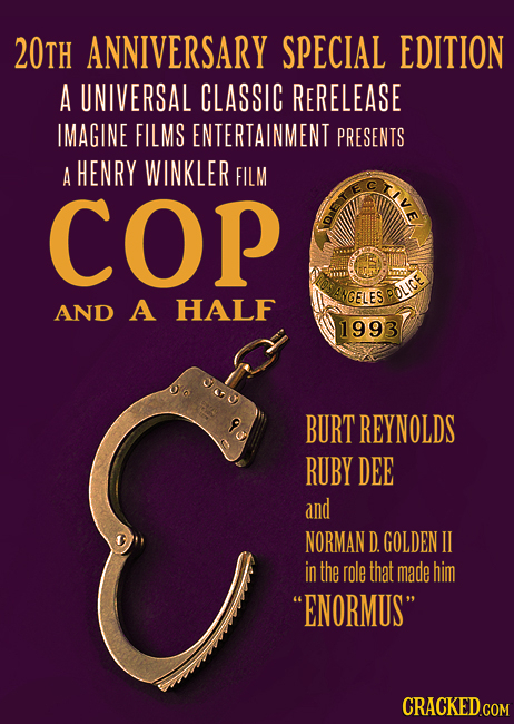 20tH ANNIVERSARY SPECIAL EDITION A UNIVERSAL CLASSIC RERELEASE IMAGINE FILMS ENTERTAINMENT PRESENTS A HENRY WINKLER FILM TvE COP NGELES POLICE AND A H