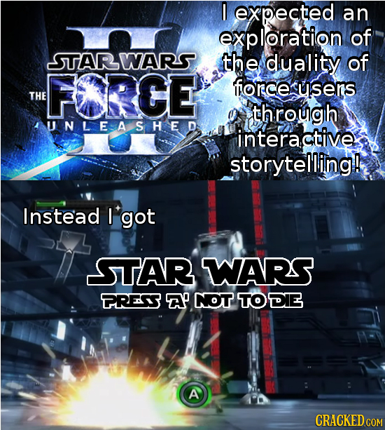 I expected an exploration of STARWARS. the duality of FRCE force cusers THE through AUNLEASHED interactive storytelling! Instead I got STAR WARS PRESS
