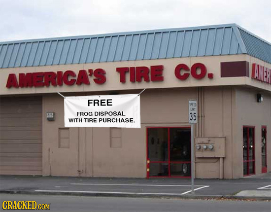 AMERICA'S TIRE CO. FREE 9EN LMT FROG DISPOSAL 35 WITH TIRE PURCHASE.