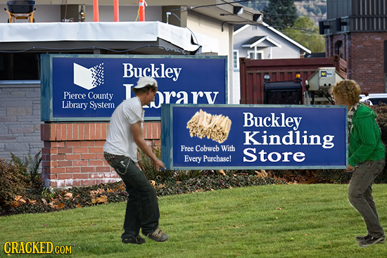 Buckley L Pierce County rarv Library System Buckley Kindling Free Cobweb With Store Every Purchase! CRACKEDcO