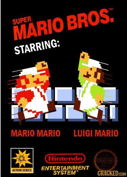 SUPER BROS. MARIO STARRING: MARIO MARIO LUIGI MARIO Nintendo NiMTearlo ENTERTAINMENT ACTION SERIES SYSTEM CRACKED.COM