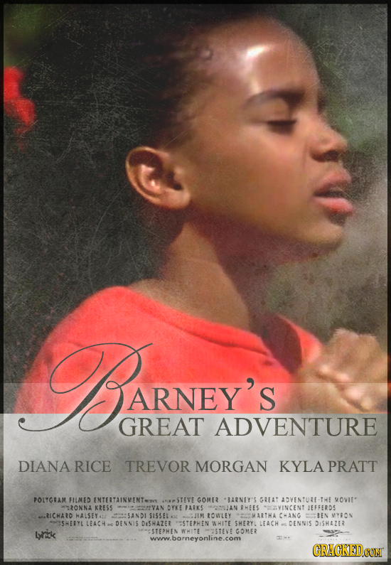 MARNIAYS ARNEY'S GREAT ADVENTURE DIANA RICE TREVOR MORGAN KYLA PRATT POLYGHAM FILNED ENTEITAINMENTET APSTEVE GOME BARNEY'S GREAT AOVENTUTE -TWE MOVIE*