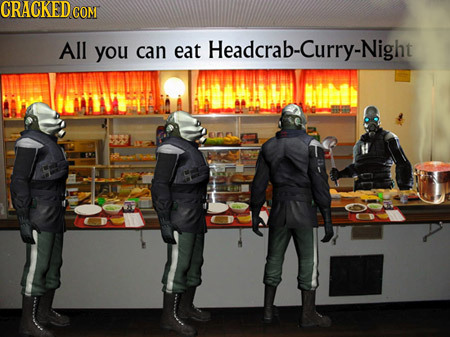 CRACKED CON All you can eat t Headcrab-Curry-Night