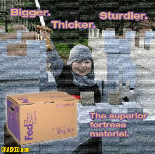 Bigger. Sturdier. Thicken. International The superior fortress Express 10kg Box material. FedEx CRACKED.cOM