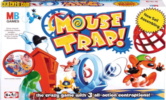 CRACKED COME MB MOUSE NOW esemblin Self GAMES URAP7 6440 64 the CrzY game with 3 Sall-action contraptions!