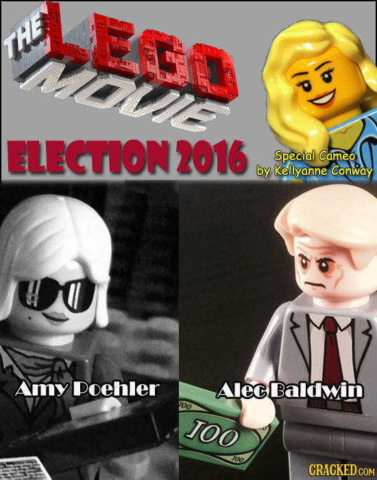 LE THE mawe ELECTION 2016 Special Cameo by Kellyanne Conway Amy Poehler Alec Balawin oO 100