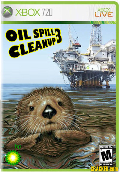 XBOX 720 XBOX LIVE OIL SPILL3 CLEANUP bp MATURE 17+ M CRACKED.COM