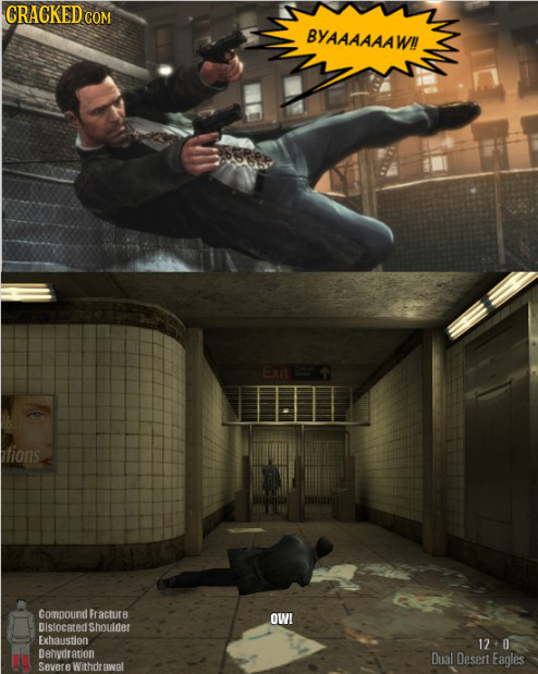If Recent Video Games Were More Realistic