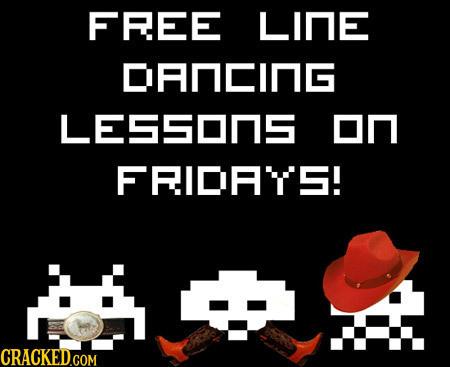 FFEE LIne DANCING LESSOnS on FRIDA'TS!