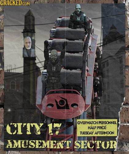 CITY 17 OVERWATCHI PERSONNEL HALFF PRICE TUEBSDAY AFENOON AMEISEMENT SEOTOR 0L