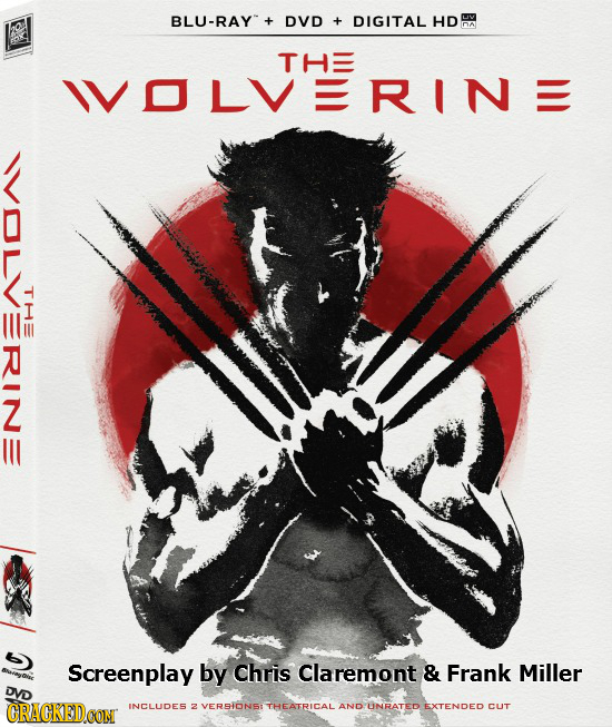 BLU-RAY DVD + DIGITAL HD THE IVOLVERINE THe IN - Screenplay by Chris Claremont & Frank Miller DVD CRACKEDCON INCLUDES 2 VERSIONS: THEATRICAL AND UNRAT
