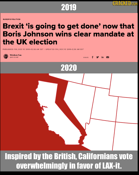 CRACKED COR 2019 FUROPE POLITICS Brexit 'is going to get done' now that Boris Johnson wins clear mandate at the UK election PURLISHED FRLDEC13 2019.12