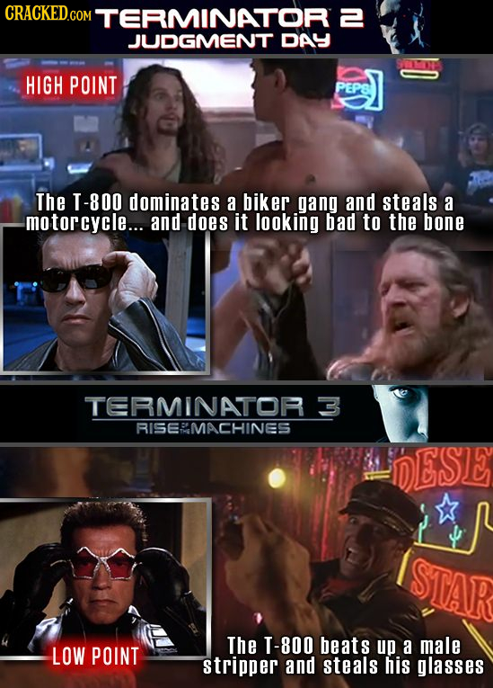 MTERMINATOR E 2 JUDGMENT DAY HIGH POINT PEP8 The T-800 dominates a biker gang and steals a -motorcycle... and does IT looking bad to the bone TERMINAT