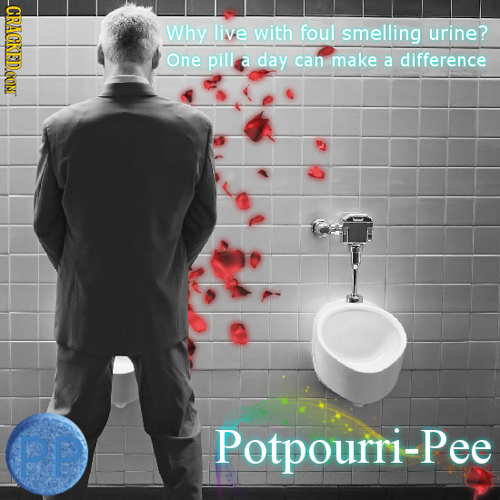 CRACKEDCON Why live with foul smelling urine? One pill a day can make a difference PP Potpourri-Pee