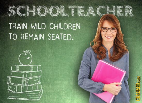 SCHOOLTEACHER TRAIN WILD CHILDREN TO REMAIN SEATED. CRACKEDCOMT