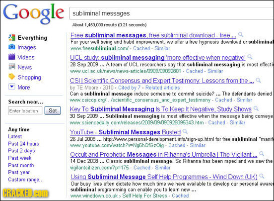 Google subliminal messages About resuits (O 21 seconds) Free subliminal messages free download - Everything subliminal free For your well being and ha