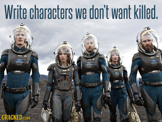 Write characters we don't want killed. CRACKEDcO COM