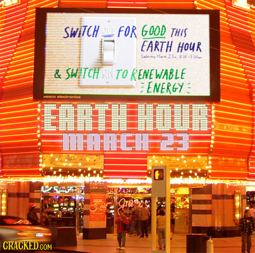 SWITCH FOR GOOD THIS EARTH HOUR 23. & SWITCH ON TO RENEWABLE ENERGY electronlos EARETH HOUR FfIF 5