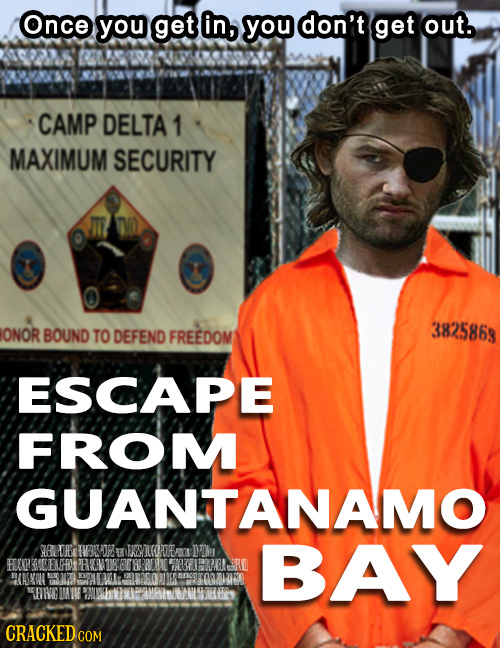 Once you get in, you don't get out. CAMP DELTA 1 MAXIMUM SECURITY ONOR BOUND 3825863 TO DEFEND FREEDOM ESCAPE FROM GUANTANAMO SALD TVRIT E FANGODRE Dh