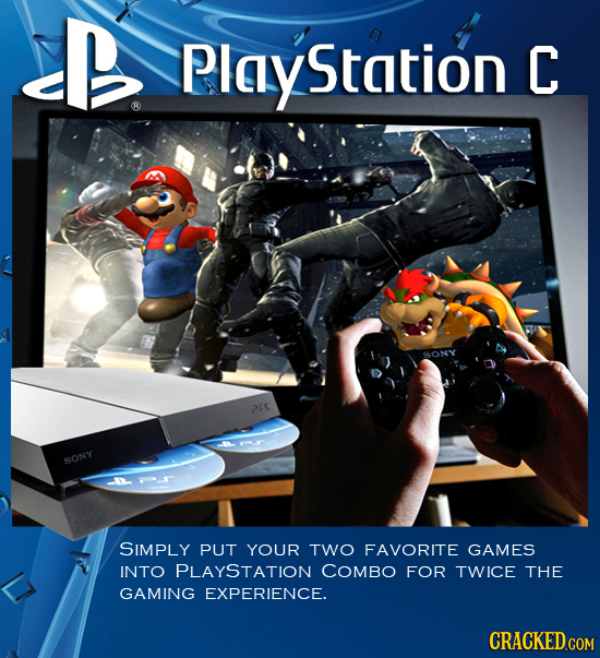 B Station C arc SONY SIMPLY PUT YOUR TWO FAVORITE GAMES INTO PLAYSTATION COMBO FOR TWICE THE GAMING EXPERIENCE.