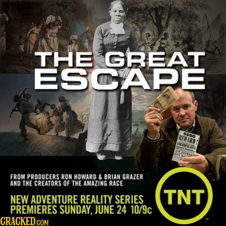 THE GREAT ESCAPE SGOO REMIRD INGSES FROM PRODUCERS RON HOWARD & BRIAN GRAZER AND THE CREATORS OF THE AMAZING RACE NEW ADVENTURE REALITY SERIES TNT PRE