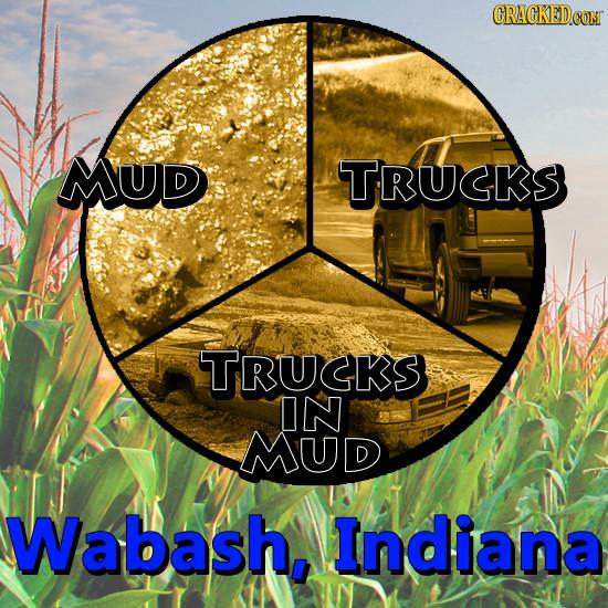 CRACKEDCON MUD TRUCKS TRUCKS IN MUD Wabash. Indiana