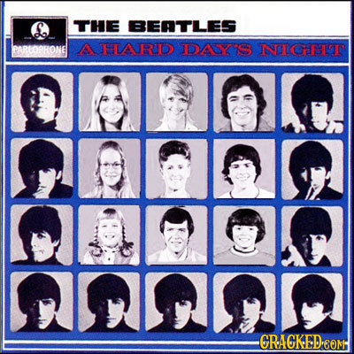 THE BEATLES PARUORHONE A HARO DAYT'S NNIhT ol -CRAGKEDCONH