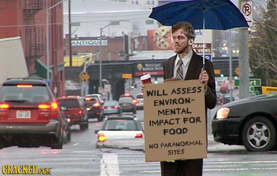 ANTIGUTG WILL ASSESS ENVIRON- MENTAL FOR IMPACT FOOD NO PARANORMAL SITES