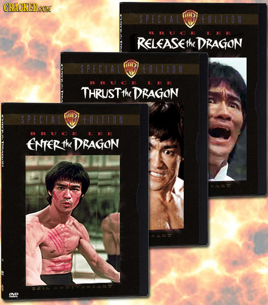CRACKED SPECIAL 10S RELEASET the DRAGON SPECIAL BRUCE LE THRUSTT the DRAGON SPECIAL 107 B1UCE ENFERTH the DRAGON DVD