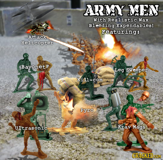 AARIY NEN With Realistic Wax Bleeding Expendables! Featuring: Attack Helicopter Bayonet Leg Sweeper Kini-com Pyro Ultrasonic Krav Maga CRACKEDCOMT