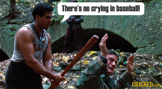 There's no crying in baseball! CRACKEDCON