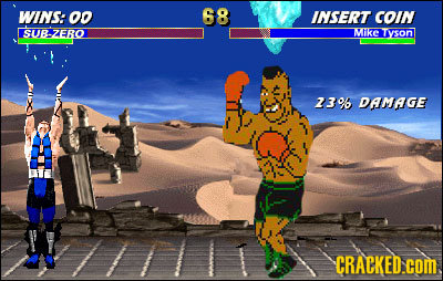 WINS: o0 68 INSERT COIN SUB-ZERO MikE Tyson 23% DAMAGE CRACKED.cOM