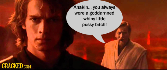 Anakin... you always were a goddamned whiny little pussy bitch!