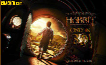 CRACKED.coM FROENLEOTOE TTHE E1OE4I FEO TEY HOBBIT ONLY IN 3D DCEMHR I. 2X002