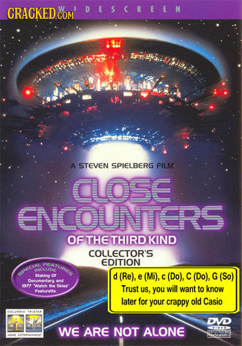 CRACKED DESCREEN COM A STEVEN SPIELBERG FILM CLOSE ENCOUNTERS OF THE THIRD KIND COLLECTOR'S ParuRUS EDITION NCLUDE PCAL Makding of d (Re), e (Mi), C (